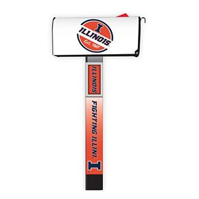 Illinois Fighting Illini 2-Pack Magnetic Mailbox Post Cover