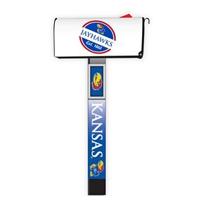 Kansas Jayhawks 2-Pack Magnetic Mailbox Post Cover