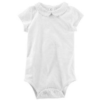 Baby Girl OshKosh B'gosh® Eyelet-Collar Bodysuit
