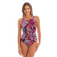 Women's Upstream Sport Tummy Slimmer Tie-Dye One-Piece Swimsuit