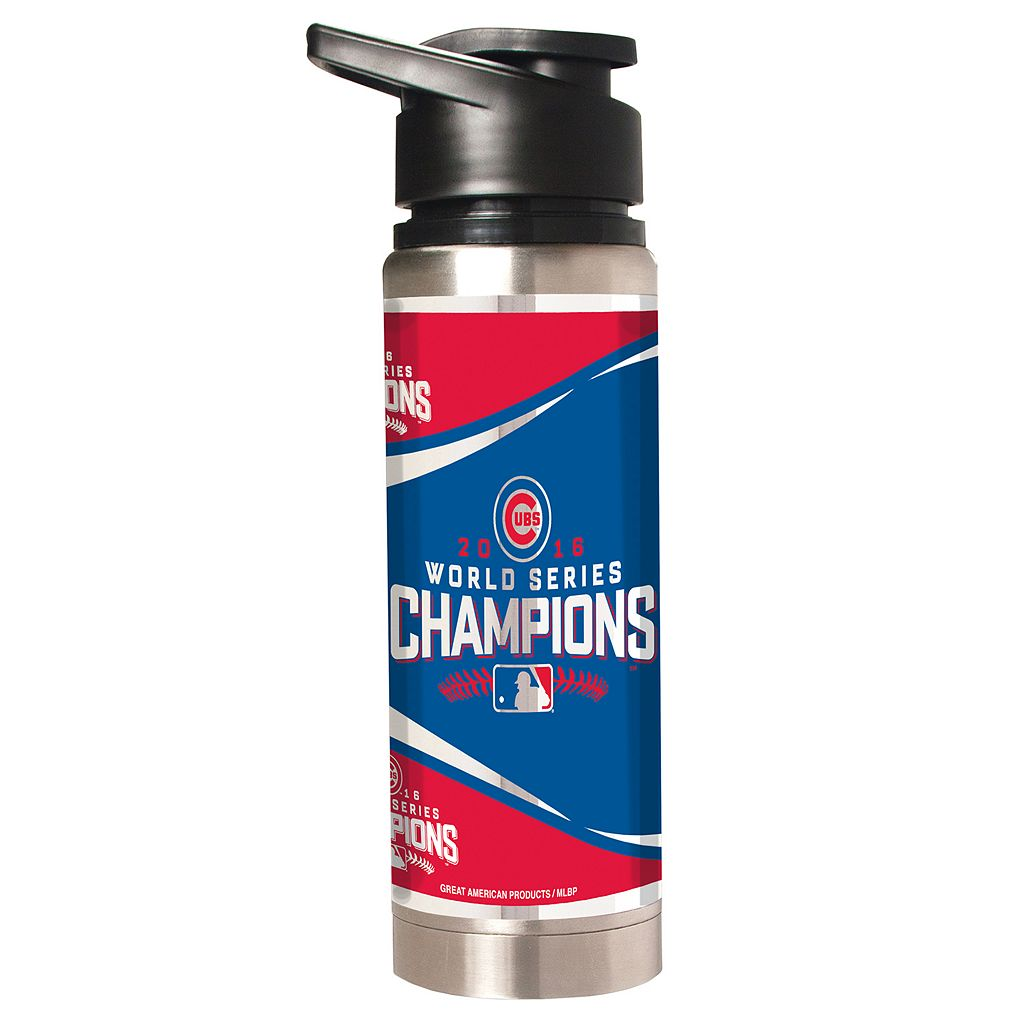 Chicago Cubs 2016 World Series Champions Stainless Steel Water Bottle