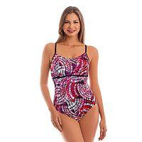 Women's Upstream Sport Tummy Slimmer Lattice-Back One-Piece Swimsuit