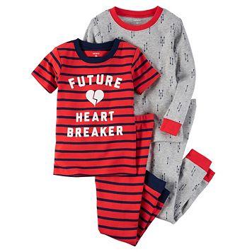 Boys 4-8 Carter's 4-Piece Heart Breaker Pajama Set