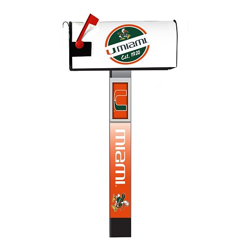 Miami Hurricanes 2-Pack Magnetic Mailbox Post Cover