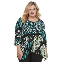Women's Dana Buchman Pleated Shark-Bite Top