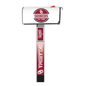 Oklahoma Sooners 2-Pack Magnetic Mailbox Post Cover