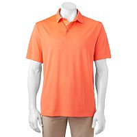 Men's Grand Slam MotionFlow360 Regular-Fit Heathered Easy-Care Performance Golf Polo