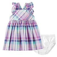 Baby Girl OshKosh B'gosh® Plaid Apron Dress