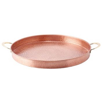 Old Dutch 20-in. Hammered Copper Round Tray