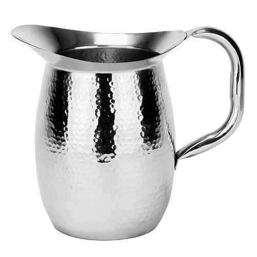 Old Dutch 2-qt. Hammered Stainless Steel Water Pitcher