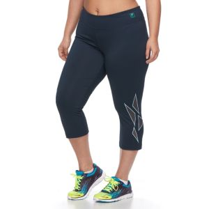 Plus Size FILA SPORT® Mesh Placement Workout Capri Leggings