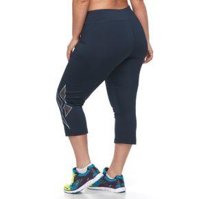 Plus Size FILA SPORT® Mesh Placement Workout Capri Leggings