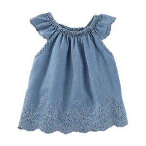 Baby Girl OshKosh B'gosh® Eyelet Swing Chambray Top