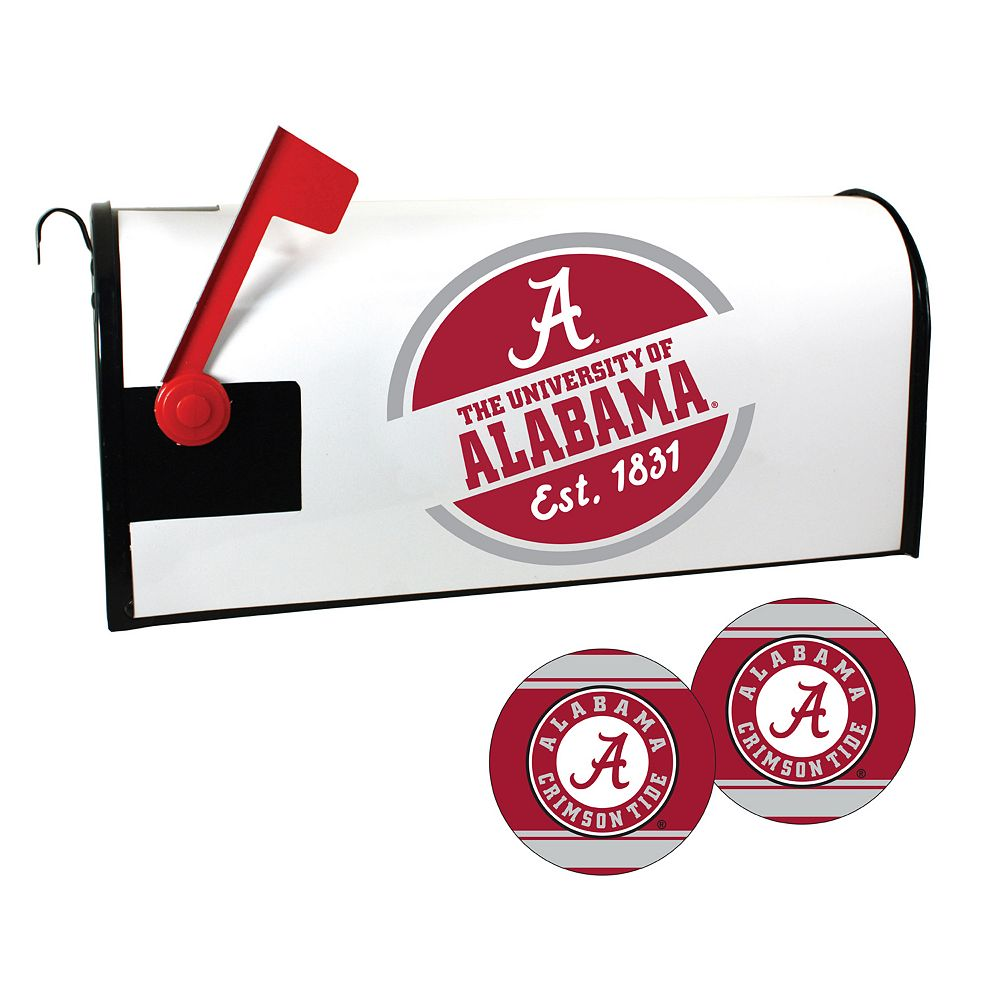 Alabama Crimson Tide Magnetic Mailbox Cover & Decal Set