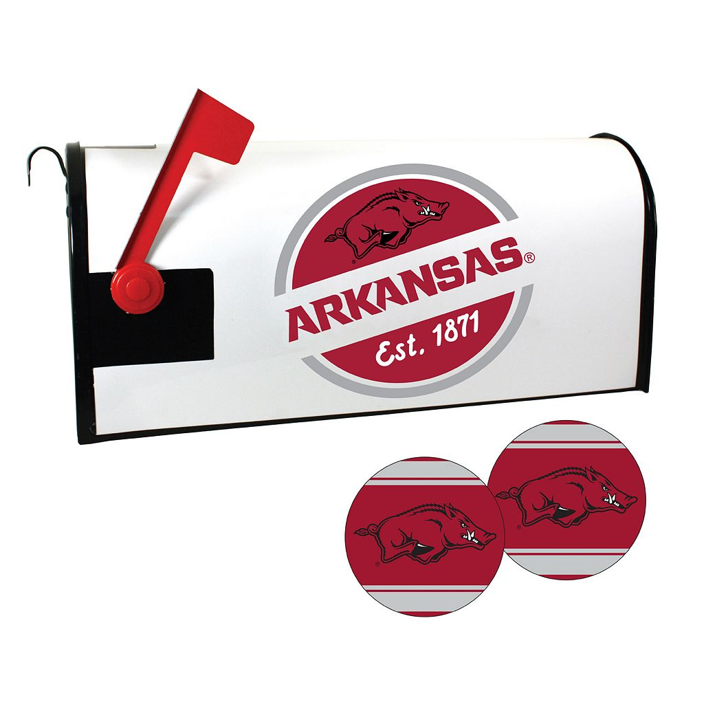 Arkansas Razorbacks Magnetic Mailbox Cover & Decal Set