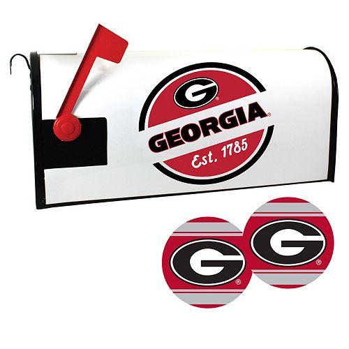 Georgia Bulldogs Magnetic Mailbox Cover & Decal Set