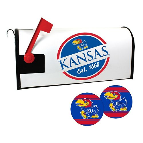 Kansas Jayhawks Magnetic Mailbox Cover & Decal Set