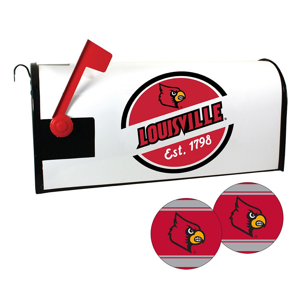 Louisville Cardinals Magnetic Mailbox Cover & Decal Set
