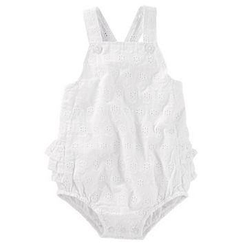 Baby Girl OshKosh B'gosh® Eyelet Ruffle-Back Sunsuit