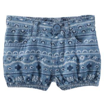 Baby Girl OshKosh B'gosh® Bandana-Print Chambray Bubble Shorts