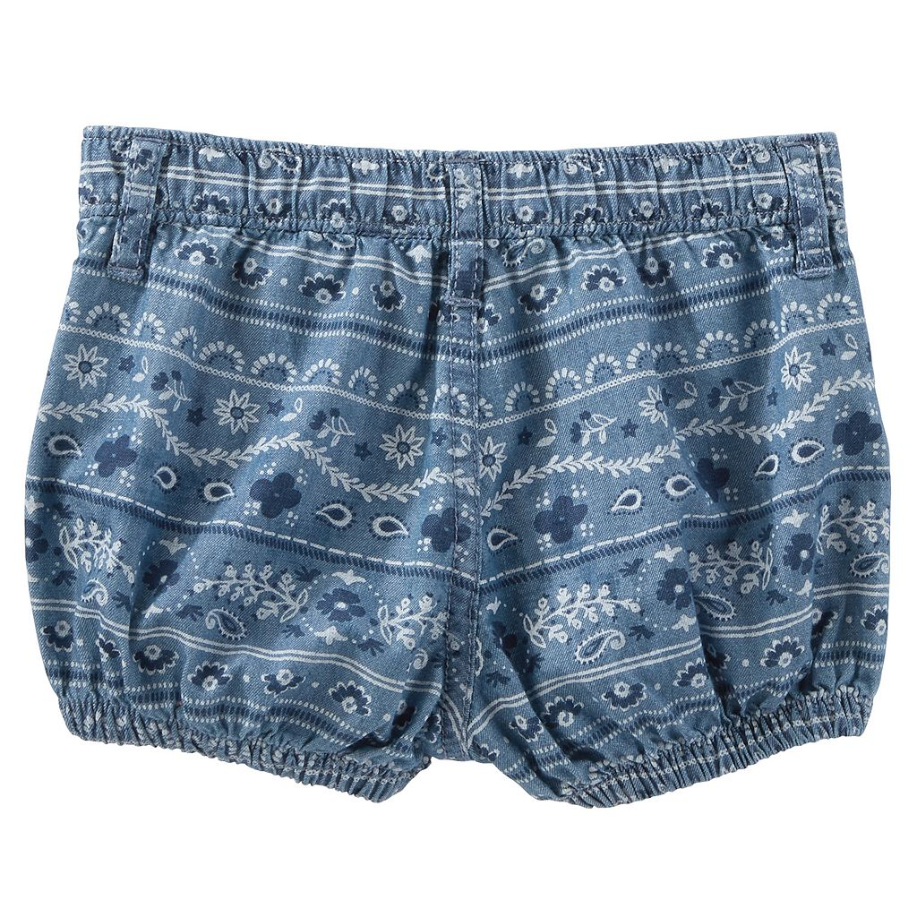 Baby Girl OshKosh B'gosh® Bandana-Print Chambray Bubble Shorts