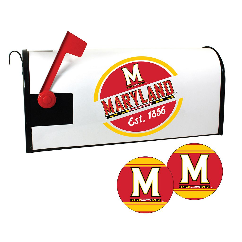 Maryland Terrapins Magnetic Mailbox Cover & Decal Set