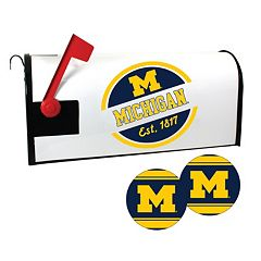 Michigan Wolverines Magnetic Mailbox Cover & Decal Set