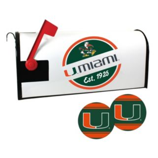 Miami Hurricanes Magnetic Mailbox Cover & Decal Set