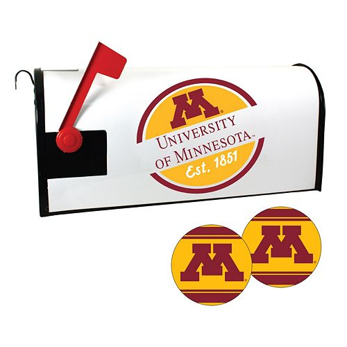 Minnesota Golden Gophers Magnetic Mailbox Cover & Decal Set