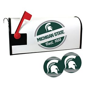 Michigan State Spartans Magnetic Mailbox Cover & Decal Set