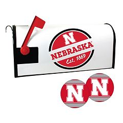 Nebraska Cornhuskers Magnetic Mailbox Cover & Decal Set