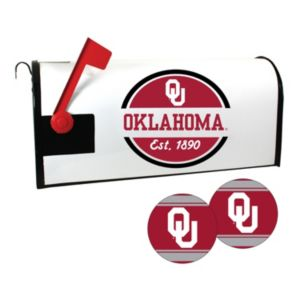 Oklahoma Sooners Magnetic Mailbox Cover & Decal Set