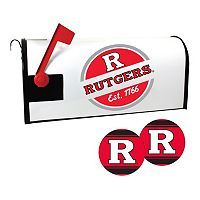 Rutgers Scarlet Knights Magnetic Mailbox Cover & Decal Set