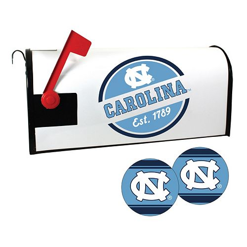 North Carolina Tar Heels Magnetic Mailbox Cover & Decal Set
