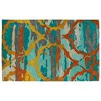 Kaleen Brushstrokes Trellis Abstract Wool Rug