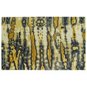 Kaleen Brushstrokes Striped Abstract Wool Rug
