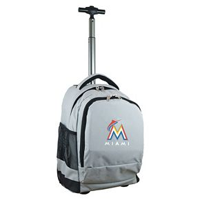 Miami Marlins Premium Wheeled Backpack