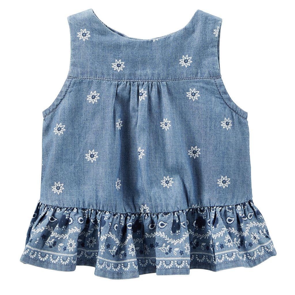 Baby Girl OshKosh B'gosh® Floral Open-Back Tank Top