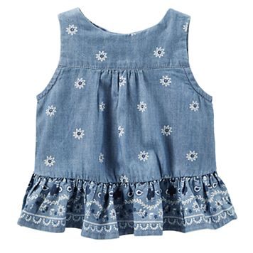 Baby Girl OshKosh B'gosh® Floral Open-Back Tank Top