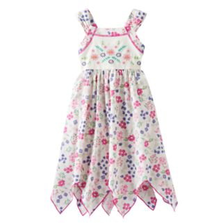 Girls 4-6x Blueberi Boulevard Floral Hanky Hem Sundress