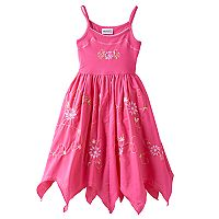 Girls 4-6x Blueberi Boulevard Embroidered Hanky Hem Sundress