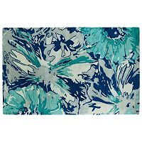 Kaleen Brushstrokes Floral Abstract Wool Rug