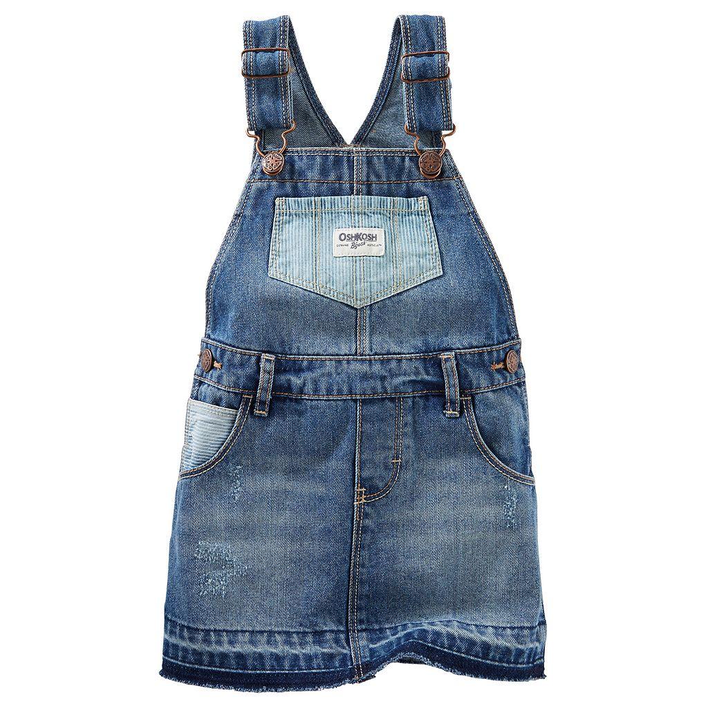 Baby Girl OshKosh B'gosh® Hickory-Stripe Denim Jumper