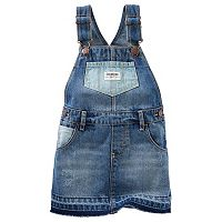 Baby Girl OshKosh B'gosh® Hickory-Stripe Denim Jumper