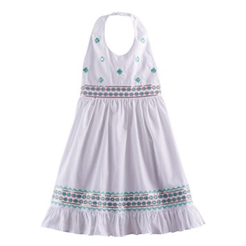 Girls 4-6x Blueberi Boulevard Embellished Halter Sundress