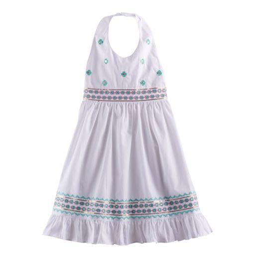Girls 4-6x Blueberi Boulevard Embellished Halter Sundress