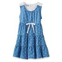 Girls 4-6x Blueberi Boulevard Tiered Chambray Sundress