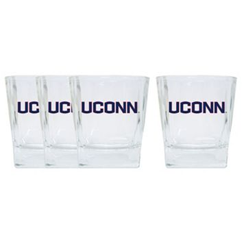 UConn Huskies 4-Pack Short Tumbler Glasses