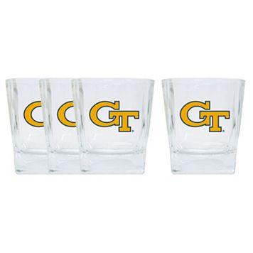 Georgia Tech Yellow Jackets 4-Pack Short Tumbler Glasses
