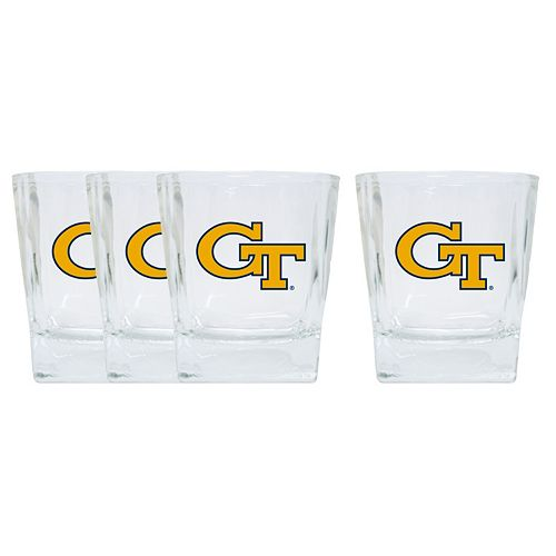 Georgia Tech Yellow Jackets 4-Pack Short Tumbler Glasses